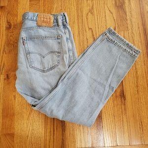 Levi's 505 36 X 30 Stone Wash Denim Jean